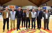 28 January 2017; The 1992 Neptune Basketball team who were presented at half-time during the Hula Hoops Men's National Basketball Cup Final match between Pyrobel Killester and Griffith Swords Thunder at National Basketball Arena in Tallaght, Co. Dublin. Photo by Brendan Moran/Sportsfile
