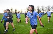 29 January 2017; Olwen Carey of Dublin following her side's victory in the Lidl Ladies Football National League Round 1 match between Dublin and Monaghan at Naomh Mearnóg in Portmarnock, Co Dublin. Photo by David Fitzgerald/Sportsfile