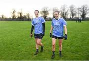 29 January 2017; Noelle Healy, left, and Fiona Hudson of Dublin following their side's victory in the Lidl Ladies Football National League Round 1 match between Dublin and Monaghan at Naomh Mearnóg in Portmarnock, Co Dublin. Photo by David Fitzgerald/Sportsfile