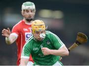 29 January 2017; Paul Browne of Limerick in action against Shane Kingston of Cork during the Co-Op Superstores Munster Senior Hurling League final match between Limerick and Cork at the Gaelic Grounds in Limerick. Photo by Eóin Noonan/Sportsfile
