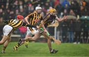 29 January 2017; David Redmond of Wexford in action against Cillian Buckley of Kilkenny during the Bord na Mona Walsh Cup Semi-Final match between Wexford and Kilkenny at O'Kennedy Park in New Ross, Co Wexford. Photo by Matt Browne/Sportsfile