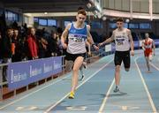 29 January 2017; Adam Murphy of St Laurence O'Toole A.C., Co. Carlow on his way to winning the Men U23 200m during the Irish Life Health National Junior & U23 Indoor Championships at AIT International Arena in Athlone, Co Westmeath. Photo by Sam Barnes/Sportsfile