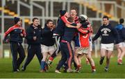 29 January 2017; Ahascragh-Fohenagh players celebrate after the AIB GAA Hurling All-Ireland Intermediate Club Championship Semi-Final match between Lismore and Ahascragh-Fohenagh at O'Connor Park in Tullamore, Co Offaly. Photo by Piaras Ó Mídheach/Sportsfile