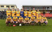 29 January 2017; The Roscommon team, back row, from left, Tadgh O'Rourke, John McManus, Tom Featherston, Darren O'Malley, Ultan Harney, Donie Smith, Tom Corcoran and Cian Connolly, with, front row, from left, Sean Mullooly, Shane Killoran, Ciaran Murtagh, Sean McDermott, Niall McInerney, Ronan Stack and Fintan Cregg before the Connacht FBD League Final match between Roscommon and Galway at Kiltoom in Co Roscommon. Photo by Stephen McCarthy/Sportsfile