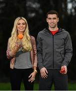 30 January 2017; Seamus Coleman and Claudine Keane are pictured at the launch of the SPAR Better Choices ad campaign. The Republic of Ireland captain and model and mum-of-two star in two separate ads for the new campaign, which showcases the SPAR Better Choices healthy eating initiative. The campaign will be rolled out across TV from 1st February. For further information please visit www.spar.ie. Photo by Ramsey Cardy/Sportsfile