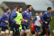 30 January 2017; Munster players including Duncan Casey and Peter McCabe during squad training at the University of Limerick in Limerick. Photo by Diarmuid Greene/Sportsfile