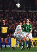 13 February 2002; Roy Keane, Republic of Ireland, in action against Egor Titov, Russia. Republic of Ireland v Russia, International Friendly, Lansdowne Road, Dublin. Soccer. Picture credit; David Maher / SPORTSFILE