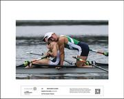 1st Place Winner Sports Feature 2017, Stephen McCarthy  BROTHERS IN ARMS by Stephen McCarthy  Paul O'Donovan and Gary O'Donovan of Ireland celebrate following the Men's Lightweight Double Sculls final during the 2016 Rio Summer Olympic Games in Rio de Janeiro Brazil.