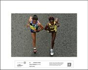 SHORTLISTED - SPORTS ACTION - 2017  STRIDE BY STRIDE by Piaras Ó Mídheach  Women's race winner Helalia Johannes Nambia right leads Ehite Bizuayehu Gebireyes Ethiopia during the SSE Airtricity Dublin Marathon 2016.