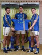 31 January 2017; Wicklow players from left, Stephen Kelly, Ross O'Brien and John McGrath in attendance at the Wicklow GAA new jersey sponsor announcement at the Powerscourt Hotel Resort & Spa in Enniskerry, Co Wicklow. Photo by Matt Browne/Sportsfile