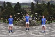 31 January 2017; Wicklow players from left, Stephen Kelly, Ross O'Brien and John McGrath in attendance at the Wicklow GAA new jersey sponsor announcement at the Powerscourt Estate in Enniskerry, Co Wicklow. Photo by Matt Browne/Sportsfile