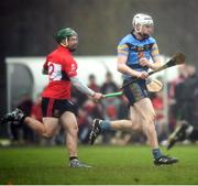 2 February 2017; Colm O'Cronin of UCD in action against Ian Kenny of UCC during the Independent.ie HE GAA Fitzgibbon Cup Group D Round 2 match between University College Dublin and University College Cork at UCD, Belfield, Dublin. Photo by Cody Glenn/Sportsfile