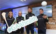 4 February 2017; Connacht Healthy Club Roadshow - inspiring GAA clubs to become hubs for health. Pictured at the launch leading the call out for increased participation in the programme are Anna Geary, former Cork camogie captain, Mickey Harte, manager of the Tyrone senior inter-county team, Michael Fennelly, hurler with the Kilkenny senior team and Philly McMahon, Gaelic footballer for Dublin and Ballymun Kickhams. Exemplar Healthy Clubs such as Achill GAA, Mayo, Melvin Gaels GAA, Leitrim, Ballinderreen GAA, Galway and Aghamore GAA, Mayo, encouraged and inspired other Connacht clubs to support their communities in pursuit of better physical and mental wellbeing. For more information, visit: www.gaa.ie/community Follow: @officialgaa or Like: www.facebook.com/officialgaa/. Ballyhaunis Centre of Excellence, Mayo. Photo by Matt Browne/Sportsfile