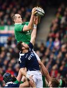 4 February 2017; Devin Toner of Ireland in action against Ryan Wilson of Scotland during the RBS Six Nations Rugby Championship match between Scotland and Ireland at BT Murrayfield Stadium in Edinburgh, Scotland. Photo by Ramsey Cardy/Sportsfile