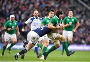 4 February 2017; Sean O'Brien of Ireland is tackled by Stuart Hogg of Scotland during the RBS Six Nations Rugby Championship match between Scotland and Ireland at BT Murrayfield Stadium in Edinburgh, Scotland. Photo by Ramsey Cardy/Sportsfile
