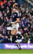 4 February 2017; Stuart Hogg of Scotland celebrates his side's victory at the final whistle of the RBS Six Nations Rugby Championship match between Scotland and Ireland at BT Murrayfield Stadium in Edinburgh, Scotland. Photo by Ramsey Cardy/Sportsfile