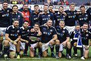 4 February 2017; The Scotland team celebrate with the Centenary Quaich after the RBS Six Nations Rugby Championship match between Scotland and Ireland at BT Murrayfield Stadium in Edinburgh, Scotland. Photo by Brendan Moran/Sportsfile