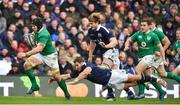 4 February 2017; Sean O'Brien of Ireland breaks clear of Allan Dell of Scotland during the RBS Six Nations Rugby Championship match between Scotland and Ireland at BT Murrayfield Stadium in Edinburgh, Scotland. Photo by Brendan Moran/Sportsfile