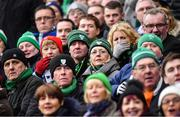 4 February 2017; Ireland supporters look on during the RBS Six Nations Rugby Championship match between Scotland and Ireland at BT Murrayfield Stadium in Edinburgh, Scotland. Photo by Brendan Moran/Sportsfile