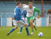 2 July 2011; Jason McAteer, Republic of Ireland XI, in action against Aidan Lynch, League of Ireland Managers Selection. Italia 90 World Cup Reunion Match, Republic of Ireland XI v League of Ireland Managers Selection, Hunky Dory Park, Drogheda, Co. Louth. Picture credit: Paul Mohan / SPORTSFILE