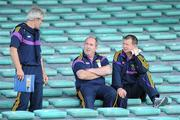 2 July 2011; Wexford manager Colm Bonnar, left, with his selectors Eamonn Scallan, centre, and John Barron in the main stand before the game. GAA Hurling All-Ireland Senior Championship, Phase 2, Limerick v Wexford, Gaelic Grounds, Limerick. Picture credit: Matt Browne / SPORTSFILE