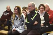 4 February 2017; Connacht Healthy Club Roadshow - inspiring GAA clubs to become hubs for health. Pictured at the launch leading the call out for increased participation in the programme are Mickey Harte, manager of the Tyrone senior inter-county team and Aoife O'Brien, National Healthy Club Coordinator. Exemplar Healthy Clubs such as Achill GAA, Mayo, Melvin Gaels GAA, Leitrim, Ballinderreen GAA, Galway and Aghamore GAA, Mayo, encouraged and inspired other Connacht clubs to support their communities in pursuit of better physical and mental wellbeing. For more information, visit: www.gaa.ie/community Follow: @officialgaa or Like: www.facebook.com/officialgaa/. Ballyhaunis Centre of Excellence, Mayo. Photo by Matt Browne/Sportsfile