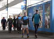 5 February 2017; Tipperary players Kevin Fahey, left, and goalkeeper Evan Comerford make their way to the team dressing room before the Allianz Football League Division 3 Round 1 match between Tipperary and Antrim at Semple Stadium in Thurles, Co. Tipperary. Photo by Matt Browne/Sportsfile