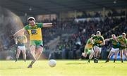 5 February 2017; Michael Murphy of Donegal scores his side's first goal, from a penalty, during the Allianz Football League Division 1 Round 1 match between Donegal and Kerry at O'Donnell Park in Letterkenny, Co Donegal. Photo by Stephen McCarthy/Sportsfile