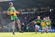 5 February 2017; Michael Murphy of Donegal after scoring his side's first goal, from a penalty, during the Allianz Football League Division 1 Round 1 match between Donegal and Kerry at O'Donnell Park in Letterkenny, Co Donegal. Photo by Stephen McCarthy/Sportsfile