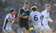 5 February 2017; Paul Mannion of Dublin in action against Fergal Reilly, left, Conor Moynagh, centre, and Shane Tierney of Cavan during the Allianz Football League Division 1 Round 1 match between Cavan and Dublin at Kingspan Breffni Park in Cavan. Photo by Ray McManus/Sportsfile