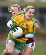 5 February 2017; Karen Gutherie of Donegal in action against Megan Glynn of Galway during the Lidl Ladies Football National League Round 2 match between Galway and Donegal at Tuam Stadium in Galway. Photo by Diarmuid Greene/Sportsfile