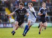 5 February 2017; Jack McCaffrey of Dublin in action against Gearoid McKiernan of Cavan during the Allianz Football League Division 1 Round 1 match between Cavan and Dublin at Kingspan Breffni Park in Cavan. Photo by Ray McManus/Sportsfile