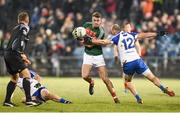 4 February 2017; Danny Kirby of Mayo in action against Gavin Doogan of Monaghan during the Allianz Football League Division 1 Round 1 match between Mayo and Monaghan at Elverys MacHale Park in Castlebar, Co Mayo. Photo by Stephen McCarthy/Sportsfile
