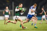 4 February 2017; Colm Boyle of Mayo in action against Kieran Hughes of Monaghan during the Allianz Football League Division 1 Round 1 match between Mayo and Monaghan at Elverys MacHale Park in Castlebar, Co Mayo. Photo by Stephen McCarthy/Sportsfile