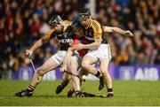 4 February 2017; Conor Cooney of St Thomas' in action against Gearóid O'Connell, left, and Jack Browne of Ballyea during the AIB GAA Hurling All-Ireland Senior Club Championship Semi-Final match between St Thomas' and Ballyea at Semple Stadium in Thurles, Co Tipperary. Photo by Piaras Ó Mídheach/Sportsfile