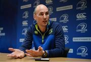 6 February 2017; Leinster backs coach Girvan Dempsey speaking during a press conference at Rosemount in UCD, Dublin. Cody Glenn/SPORTSFILE