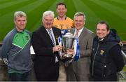 6 February 2017; In attendance at the 2017 Allianz Hurling League Launch in Croke Park are, from left, Limerick manager John Kiely, Uachtarán Chumann Lúthchleas Gael Aogán Ó Fearghail, Cian Dillon of Clare, Sean McGrath, CEO, Allianz Ireland and Wexford manager Davy Fitzgerald. This year, Allianz celebrates 25 years of sponsoring the Allianz Leagues. Visit www.allianz.ie for more information. Photo by Seb Daly/Sportsfile