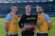 8 February 2017; Dublin footballer and All-Ireland winner Paul Flynn, mental health advocate Alan O'Mara, legendary GAA commentator Mícheál Ó Muircheartaigh, Pieta House Chief Clinical Officer Cindy O'Connor and Árd Stiúrthoir of the GAA Paraic Duffy gathered at Croke Park today to launch the new Pieta House suicide bereavement services brochure. The brochure is to publicise that Pieta House now offers suicide bereavement counselling and the free 24-hour suicide helpline 1800 247 247 in addition to counselling for those in suicidal crisis and people who self-harm. For more information, visit www.pieta.ie. Pictured are, from left, Paul Flynn, Mícheál Ó Muircheartaigh, and Alan O'Mara. Croke Park in Dublin. Photo by Piaras Ó Mídheach/Sportsfile