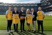 8 February 2017; Dublin footballer and All-Ireland winner Paul Flynn, mental health advocate Alan O'Mara, legendary GAA commentator Mícheál Ó Muircheartaigh, Pieta House Chief Clinical Officer Cindy O'Connor and Árd Stiúrthoir of the GAA Paraic Duffy gathered at Croke Park today to launch the new Pieta House suicide bereavement services brochure. The brochure is to publicise that Pieta House now offers suicide bereavement counselling and the free 24-hour suicide helpline 1800 247 247 in addition to counselling for those in suicidal crisis and people who self-harm. For more information, visit www.pieta.ie. Pictured are, from left, Paul Flynn, Paraic Duffy, Mícheál Ó Muircheartaigh, Cindy O'Connor, Kieran O'Brien, National Events Co-Ordinator Pieta House, and Alan O'Mara. Croke Park in Dublin. Photo by Piaras Ó Mídheach/Sportsfile