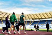 10 February 2017; Rob Kearney, left, and Conor Murray of Ireland ahead of the captain's run at the Stadio Olimpico in Rome, Italy. Photo by Ramsey Cardy/Sportsfile