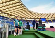 10 February 2017; Conor Murray, left, and Rob Kearney of Ireland ahead of the captain's run at the Stadio Olimpico in Rome, Italy. Photo by Ramsey Cardy/Sportsfile