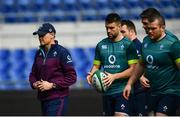 10 February 2017; Ireland head coach Joe Schmidt, left, with Conor Murray, centre, and Jack McGrath during the captain's run at the Stadio Olimpico in Rome, Italy. Photo by Ramsey Cardy/Sportsfile