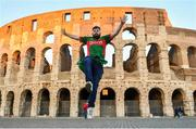 10 February 2017; Ireland supporter Thomas Maloney pictured outside The Colosseum ahead of Ireland's RBS Six Nations Championship game against Italy tomorrow in Rome, Italy. Photo by Ramsey Cardy/Sportsfile
