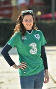 11 February 2017; Ireland supporter Maria Nugent from Armagh ahead of Ireland's RBS Six Nations Championship game against Italy at the Stadio Olimpico, in Rome. Photo by Ramsey Cardy/Sportsfile
