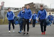 11 February 2017; Diarmuid Connolly, left, and Cormac Diamond, right, of St Vincent's arrive prior the AIB GAA Football All-Ireland Senior Club Championship semi-final match between Slaughtneil and St Vincent's at Páirc Esler in Newry. Photo by Seb Daly/Sportsfile