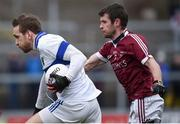 11 February 2017; Nathan Mullins of St Vincent's in action against Francis McEldowney of Slaughtneil during the AIB GAA Football All-Ireland Senior Club Championship semi-final match between Slaughtneil and St Vincent's at Páirc Esler in Newry. Photo by Seb Daly/Sportsfile