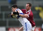 11 February 2017; Diarmuid Connolly of St Vincent's in action against Patsy Bradley of Slaughtneil during the AIB GAA Football All-Ireland Senior Club Championship semi-final match between Slaughtneil and St Vincent's at Páirc Esler in Newry. Photo by Seb Daly/Sportsfile