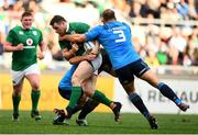 11 February 2017; Cian Healy of Ireland is tackled by Lorenzo Cittadini, 3, and Marco Fuser of Italy during the RBS Six Nations Rugby Championship match between Italy and Ireland at the Stadio Olimpico in Rome, Italy. Photo by Stephen McCarthy/Sportsfile