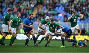 11 February 2017; Garry Ringrose of Ireland escapes the tackle of Sergio Parisse of Italy on his way to scoring his side's seventh try during the RBS Six Nations Rugby Championship match between Italy and Ireland at the Stadio Olimpico in Rome, Italy. Photo by Stephen McCarthy/Sportsfile