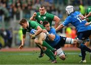 11 February 2017; Garry Ringrose of Ireland is tackled by Abraham Steyn of Italy during the RBS Six Nations Rugby Championship match between Italy and Ireland at the Stadio Olimpico in Rome, Italy. Photo by Ramsey Cardy/Sportsfile